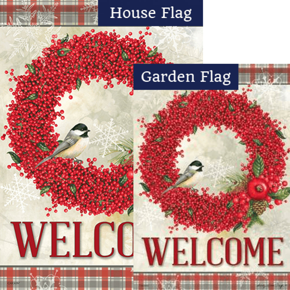 Winterberry Welcome Flags Set (2 Pieces)