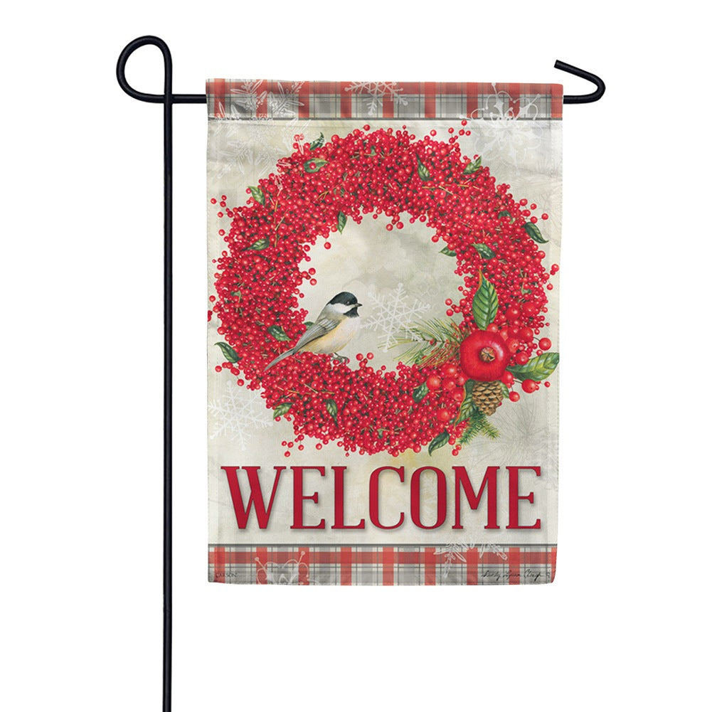 Winterberry Welcome Garden Flag