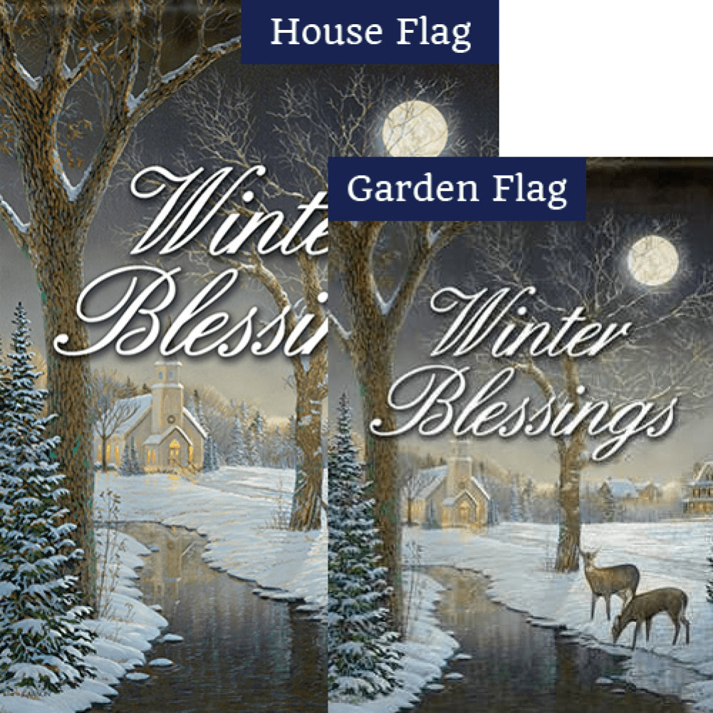Winter Serenity Flags Set (2 Pieces)
