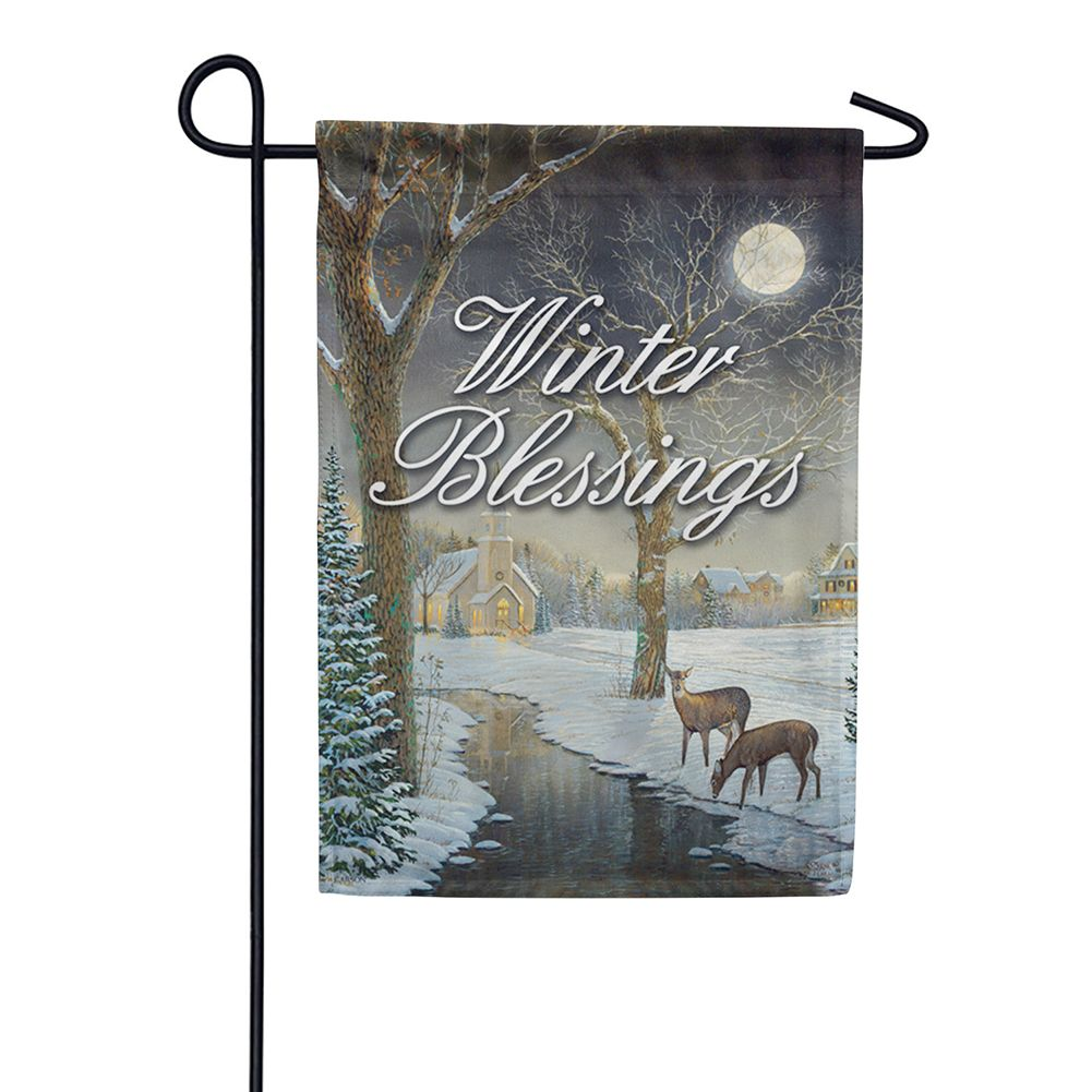 Winter Serenity Garden Flag