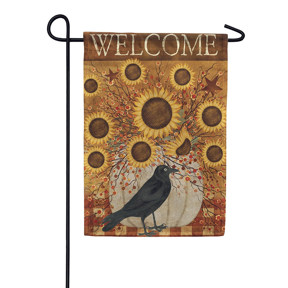 Pumpkin & Sunflowers Welcome Garden Flag