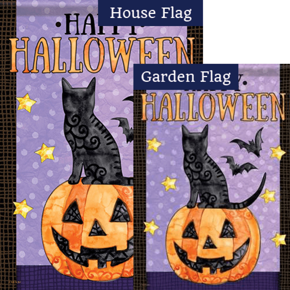 Spooky Cats & Bats Flags Set (2 Pieces)