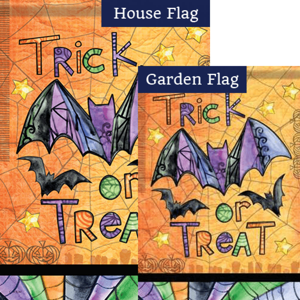 Tricks Or Treats Flags Set (2 Pieces)