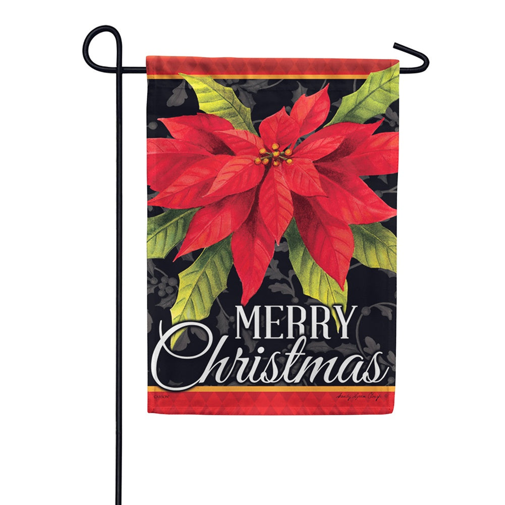 Poinsettia Christmas Garden Flag