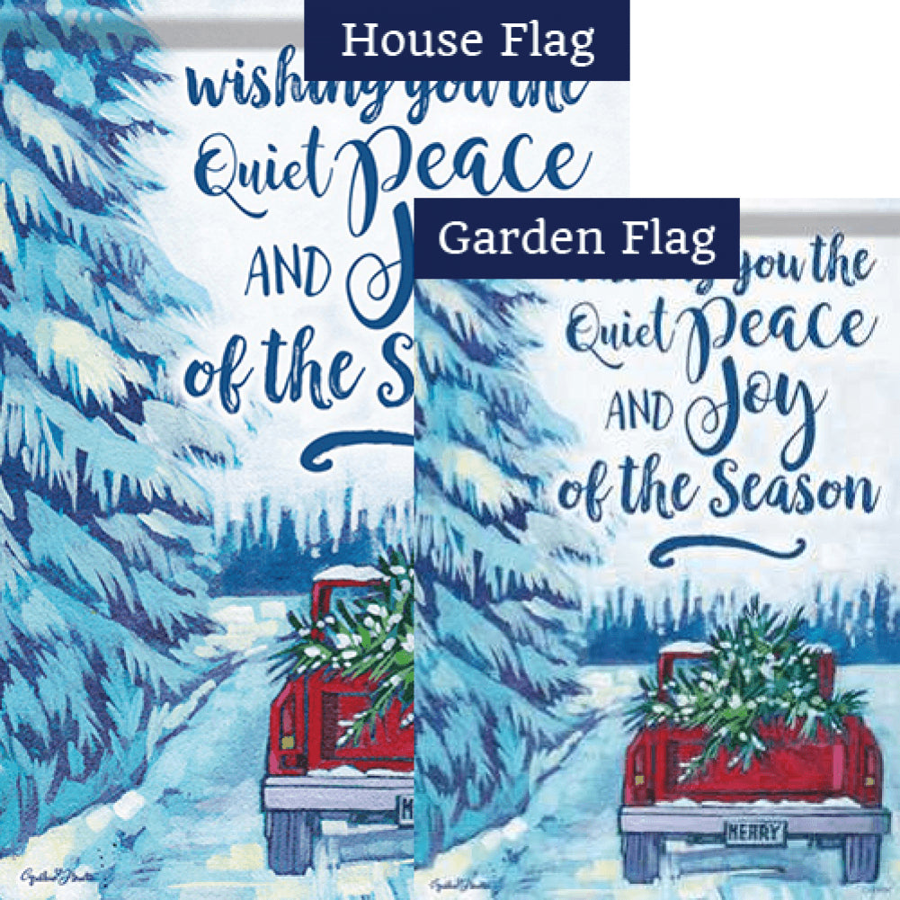 Quiet Peace Red Truck Flags Set (2 Pieces)