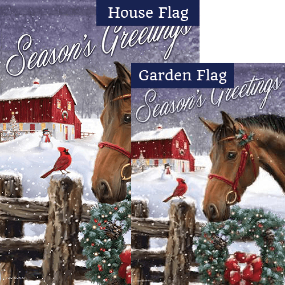 Barnyard Christmas Flags Set (2 Pieces)
