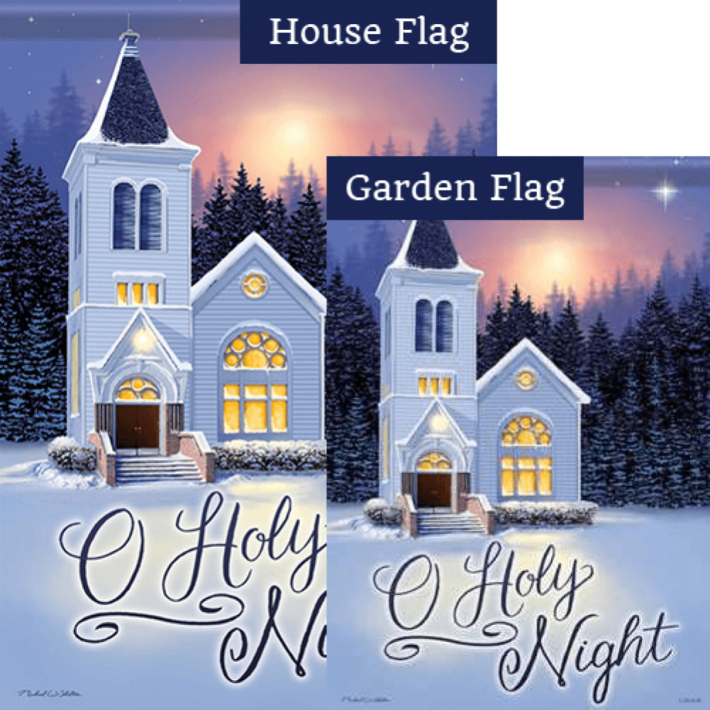 O Holy Night Church Flags Set (2 Pieces)