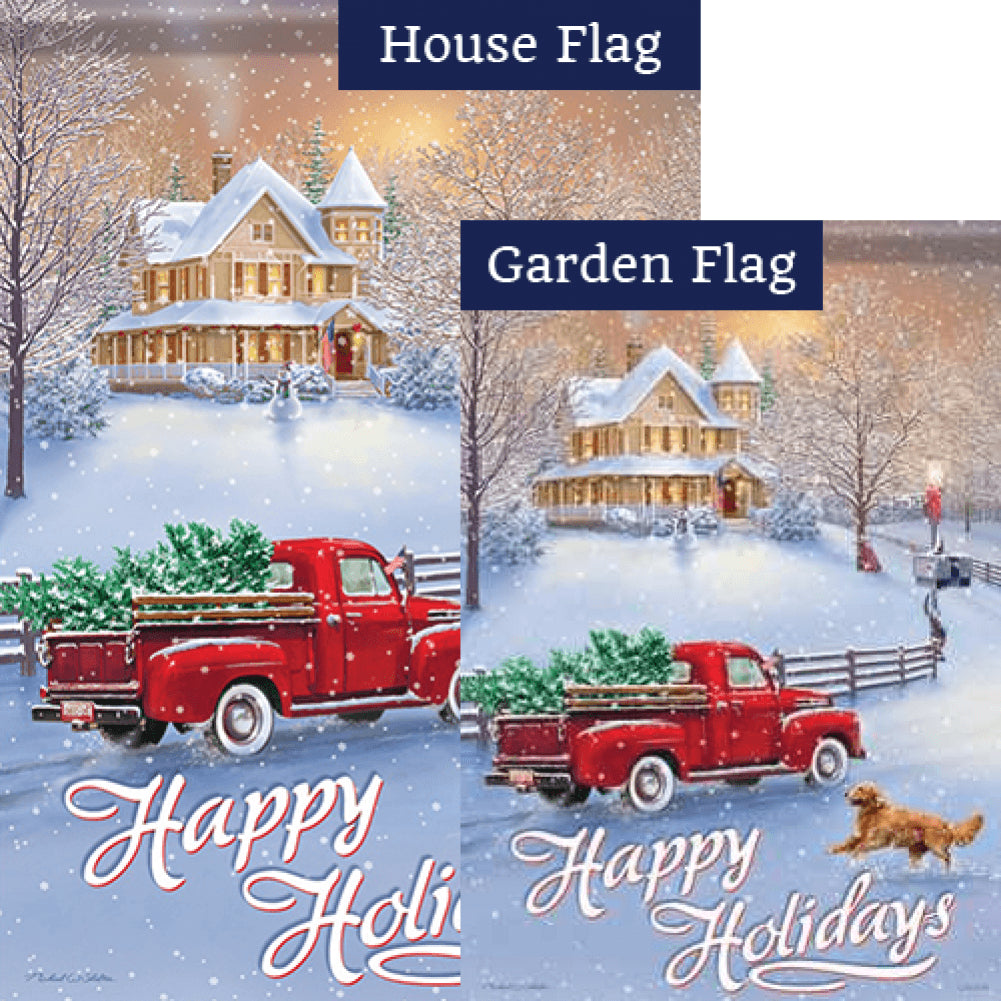 Holidays At Home Flags Set (2 Pieces)