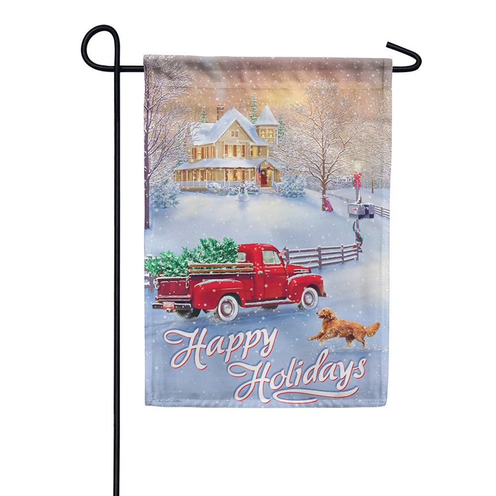 Holidays At Home Garden Flag