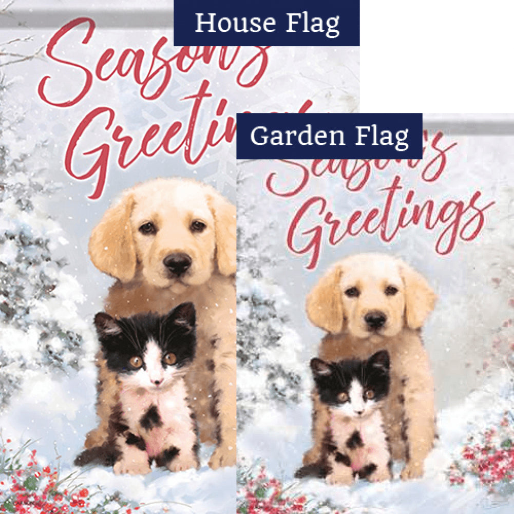 Christmas Friends Flags Set (2 Pieces)