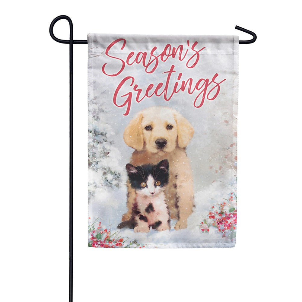 Christmas Friends Garden Flag