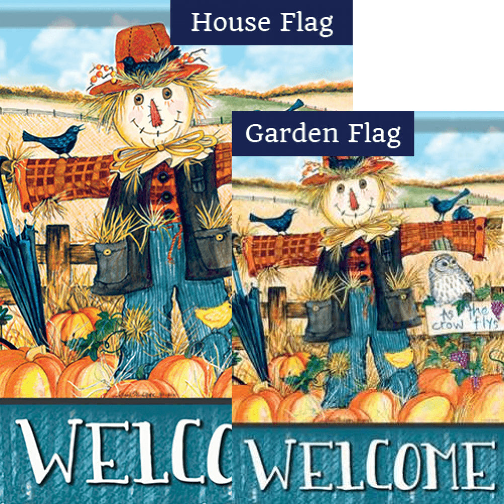 Mr. Scarecrow Welcome Flags Set (2 Pieces)