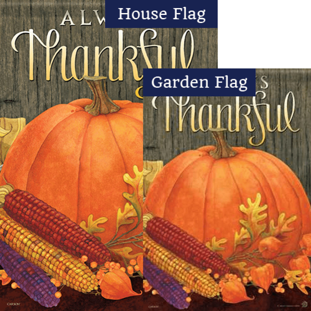 Always Thankful Flags Set (2 Pieces)