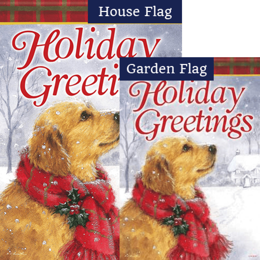 Friendly Holiday Greetings Flags Set (2 Pieces)