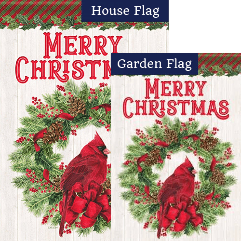 Cardinal & Wreath Flags Set (2 Pieces)