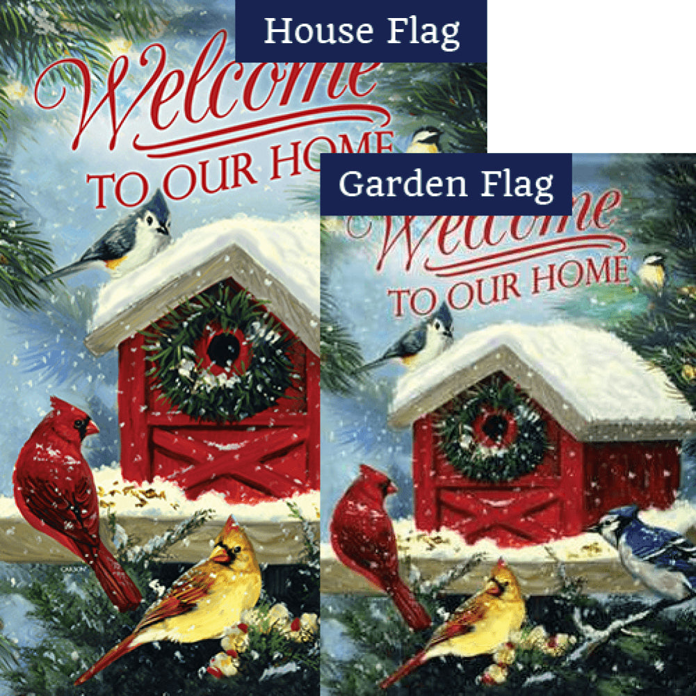 Christmas Songbirds Flags Set (2 Pieces)