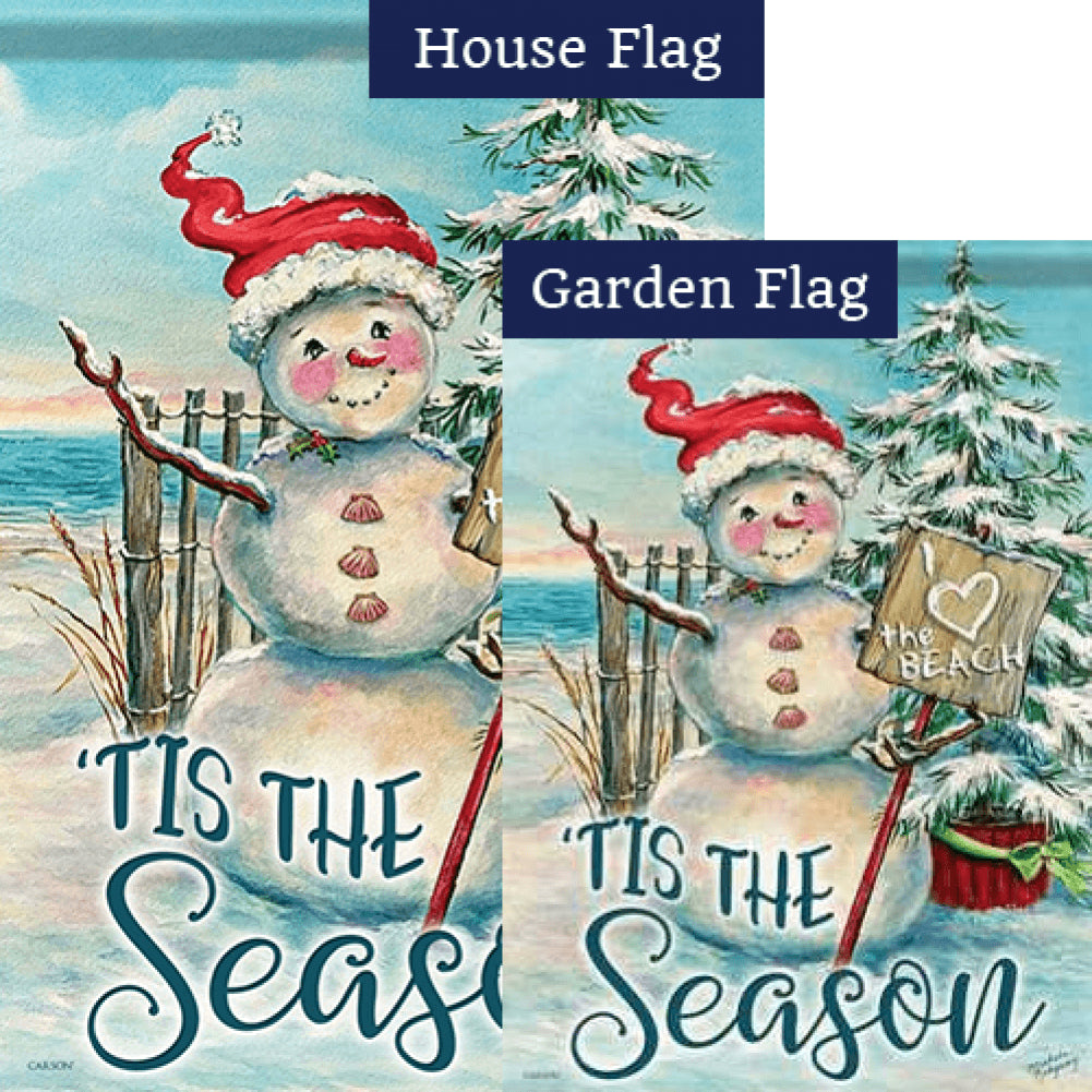 Christmas at the Beach Flags Set (2 Pieces)