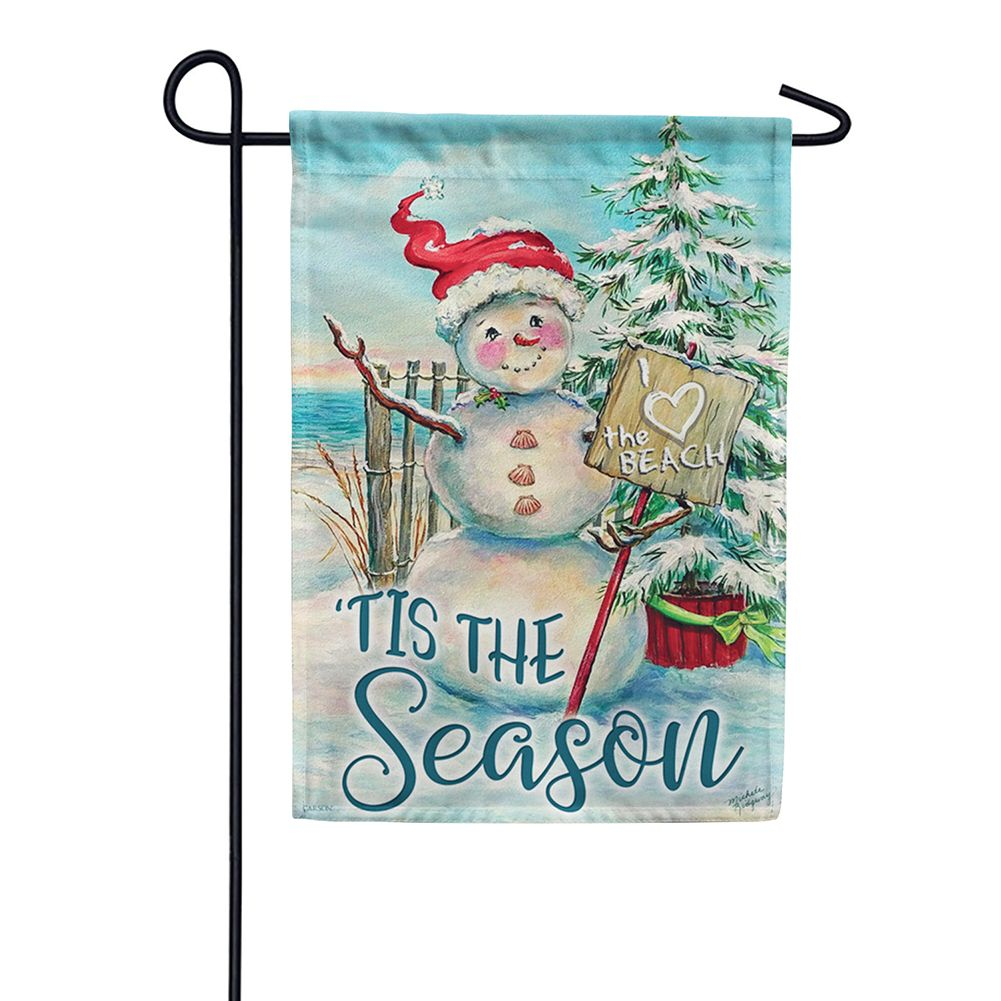 Christmas at the Beach Garden Flag