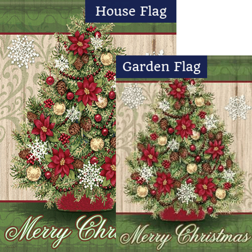 Pinecone Christmas Flags Set (2 Pieces)