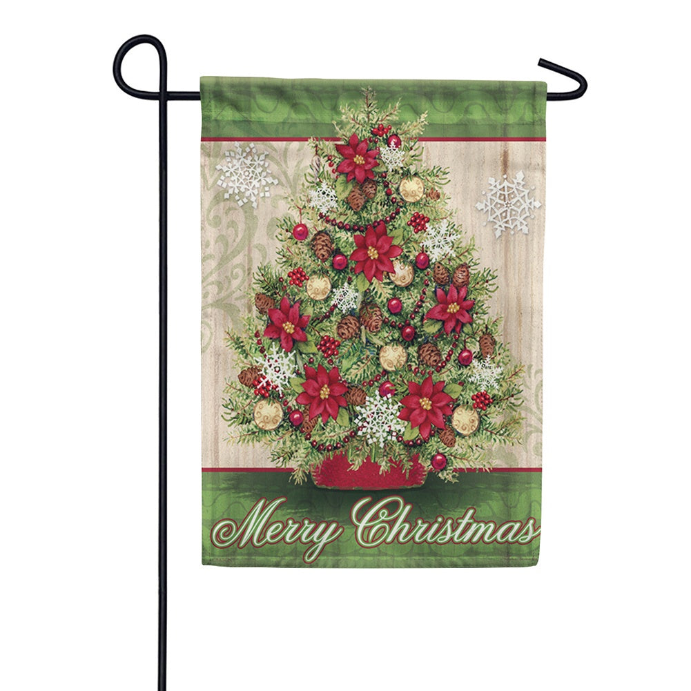 Pinecone Christmas Garden Flag