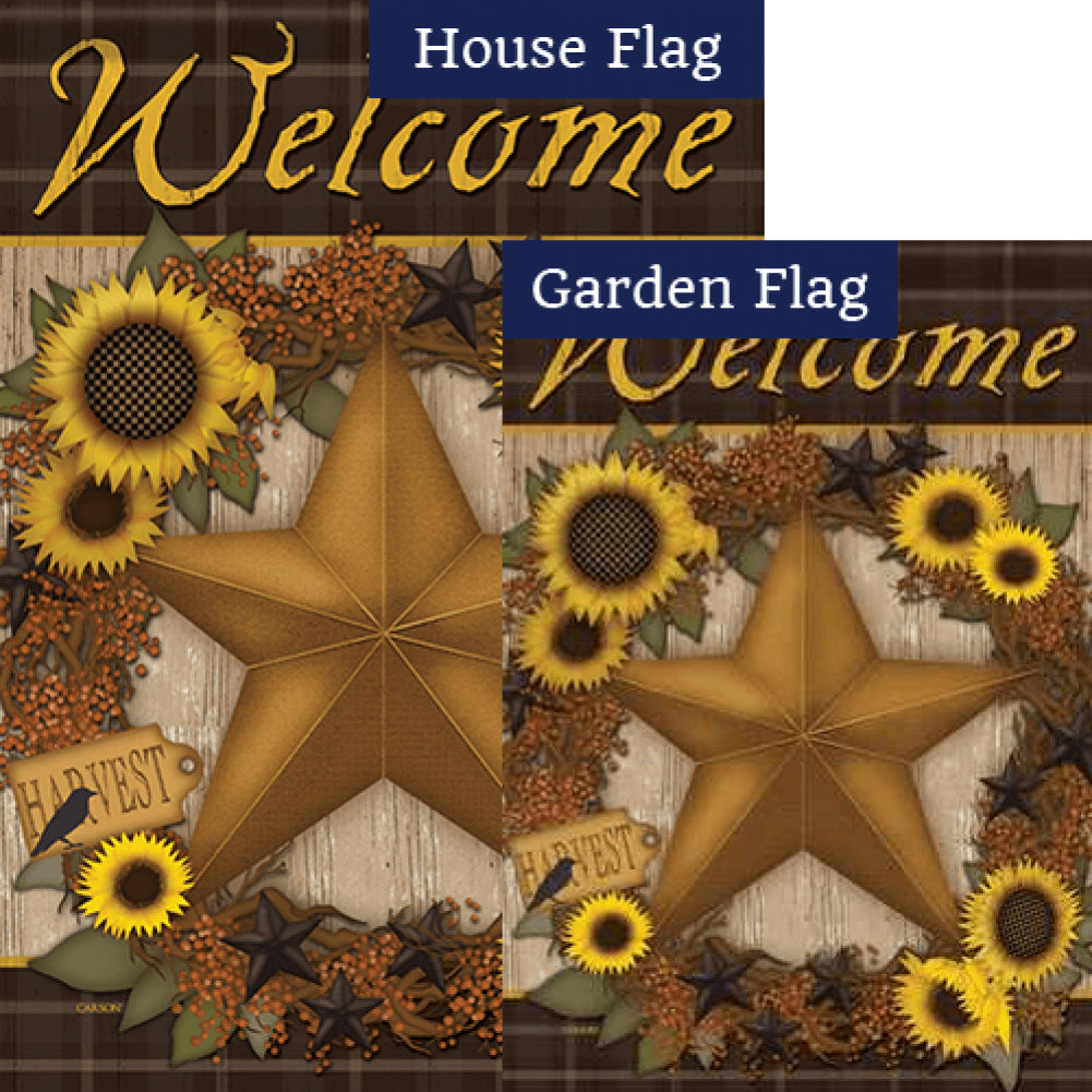 Sunflower Harvest Wreath Flags Set (2 Pieces)
