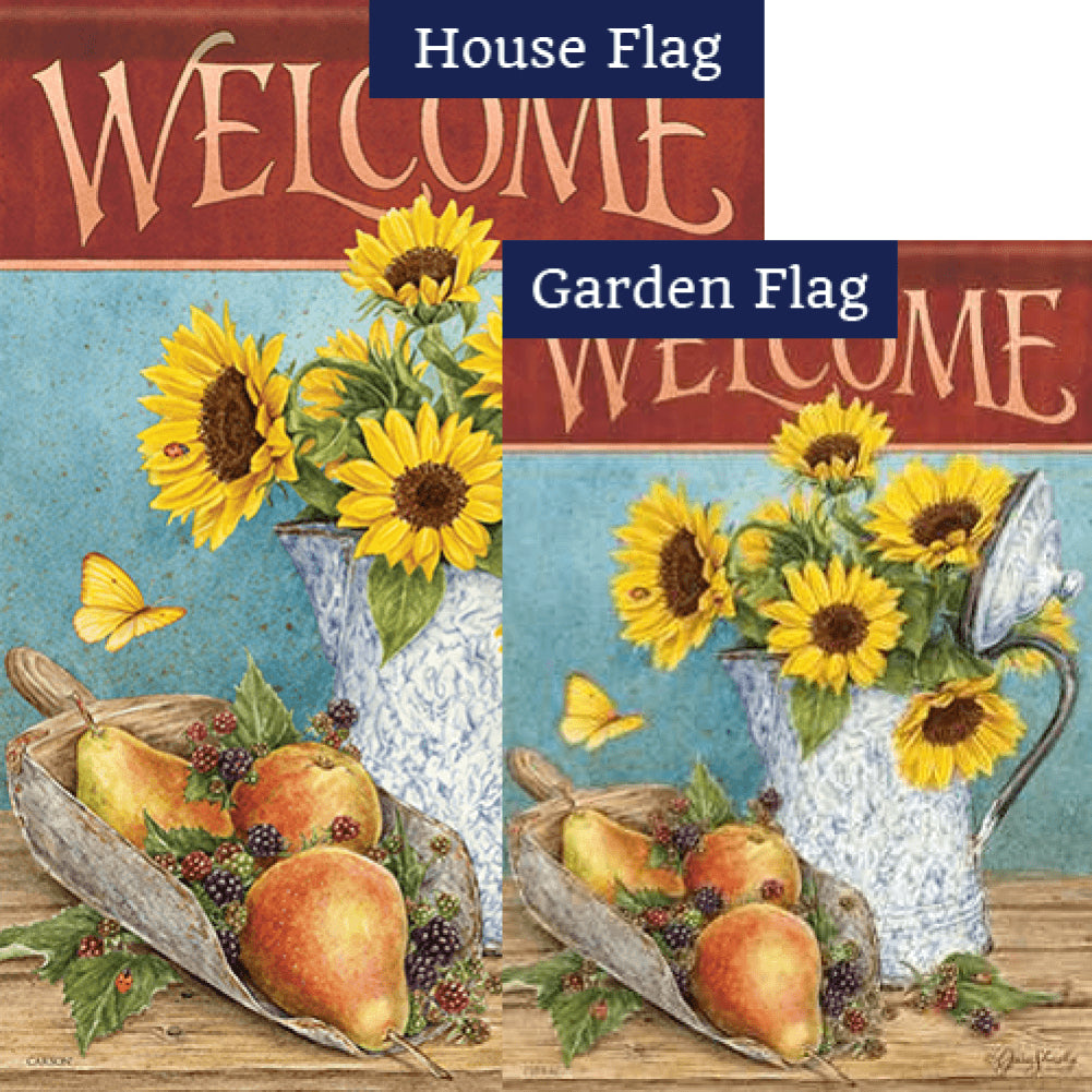 Sunflowers & Pears Flags Set (2 Pieces)