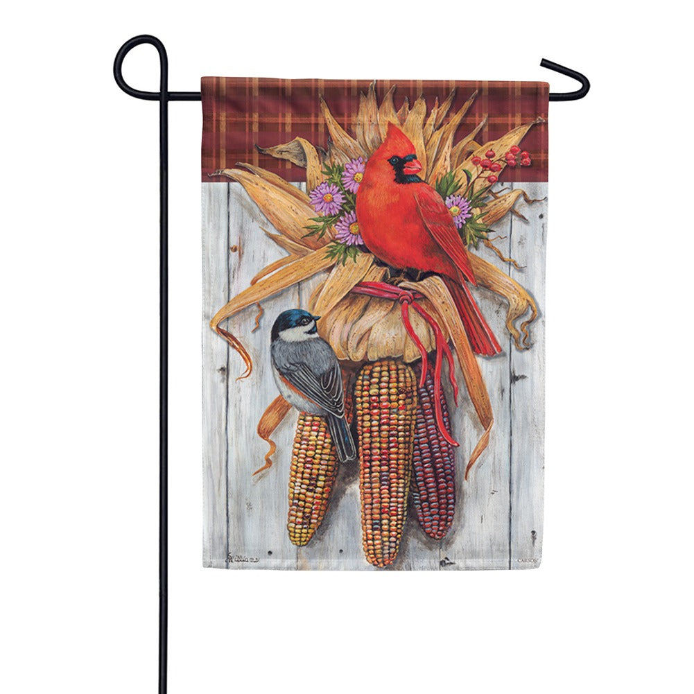 Indian Corn Birds Garden Flag