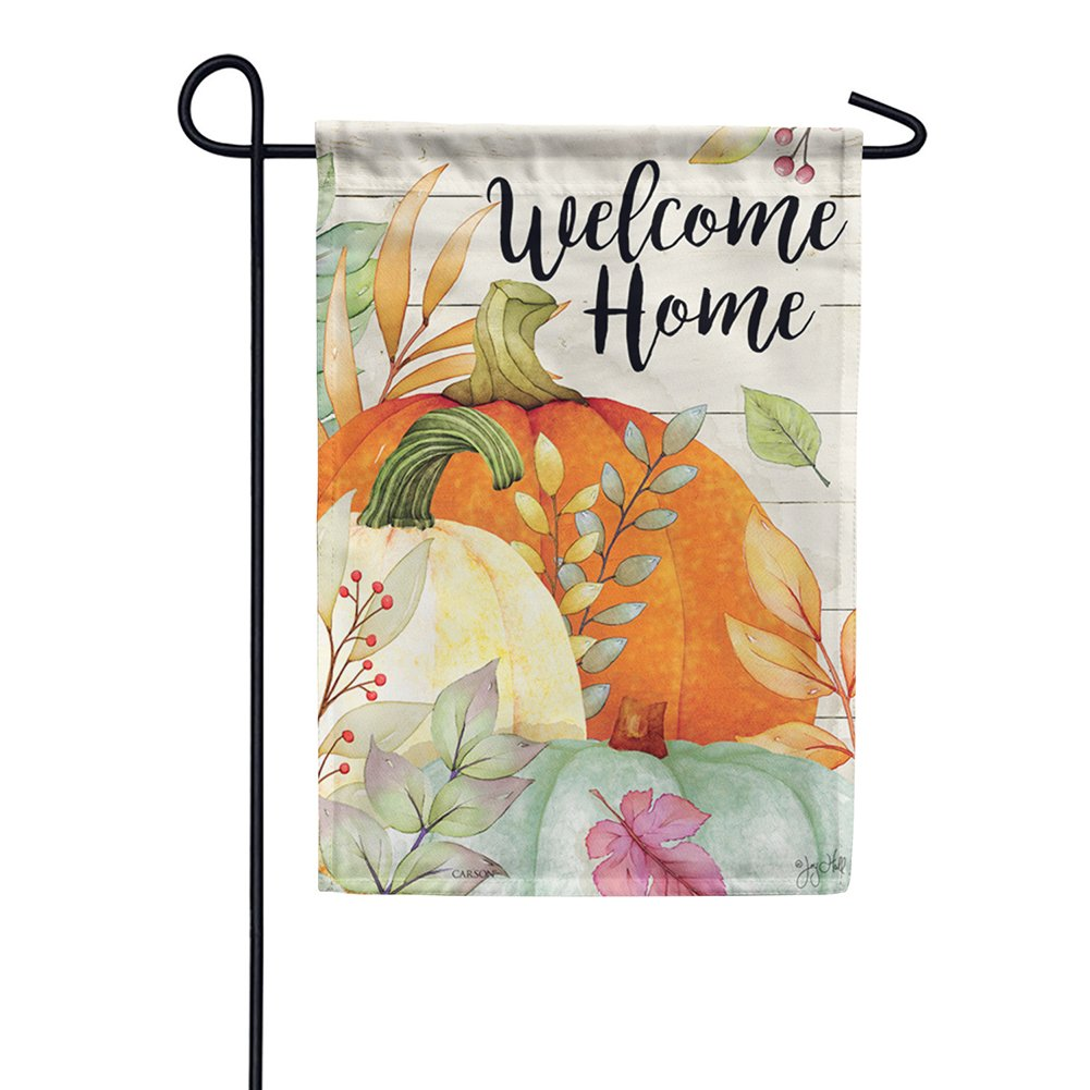 Watercolor Pumpkins Glitter Trends Garden Flag