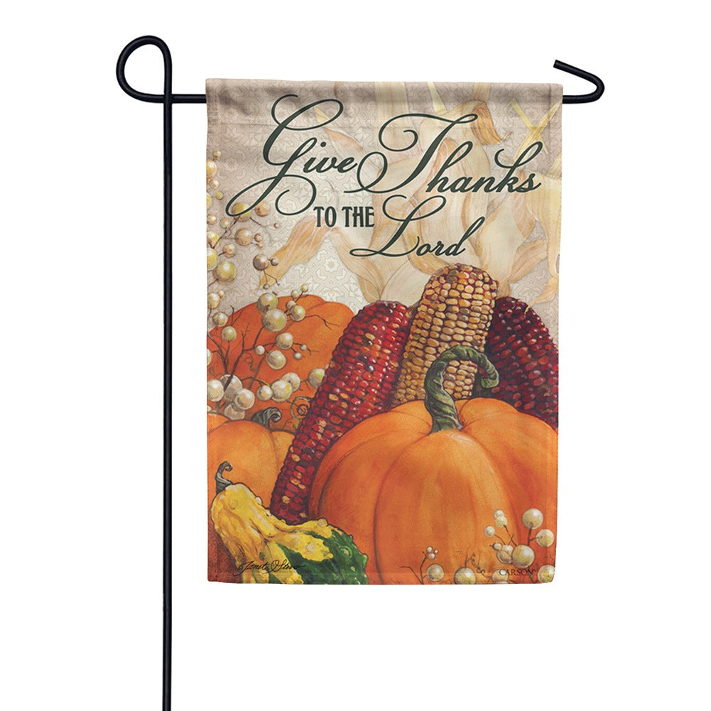 For He Is Good Garden Flag