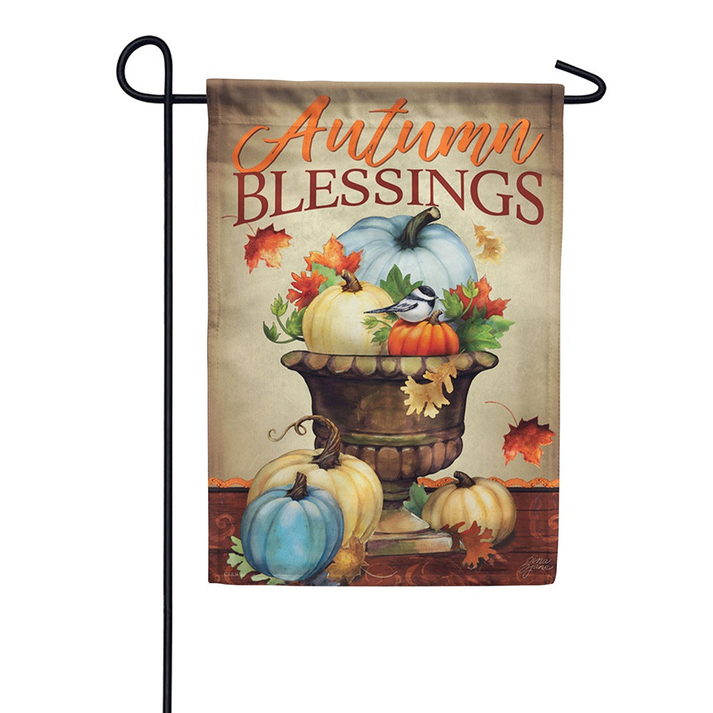 Pumpkin Planter Garden Flag