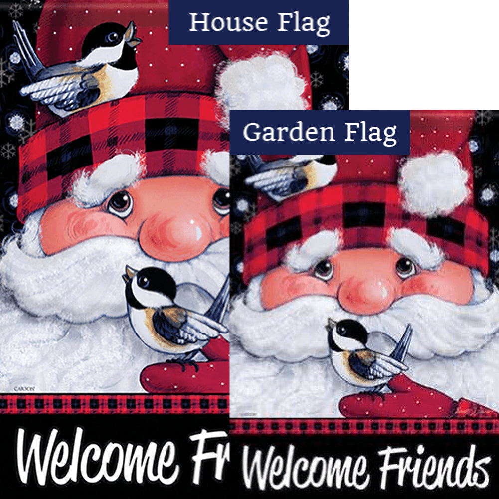 Santa's Feathered Friends Flags Set (2 Pieces)