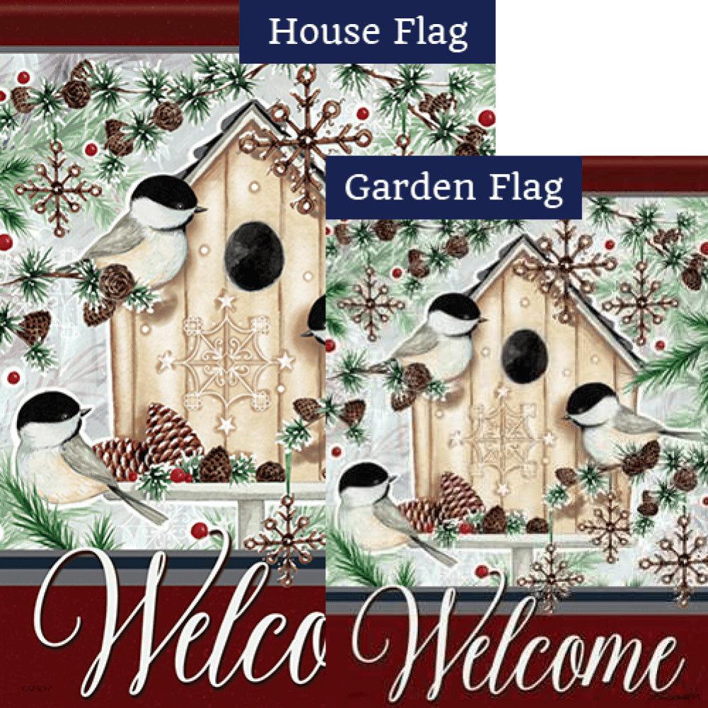 Chilly Chickadees Flags Set (2 Pieces)