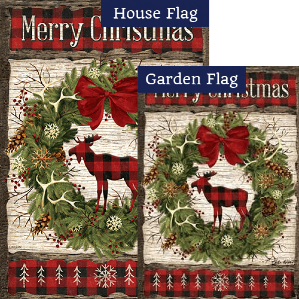 Woodland Christmas Flags Set (2 Pieces)