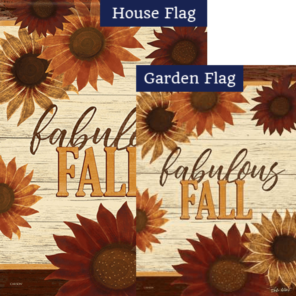 Fabulous Fall Floral Flags Set (2 Pieces)