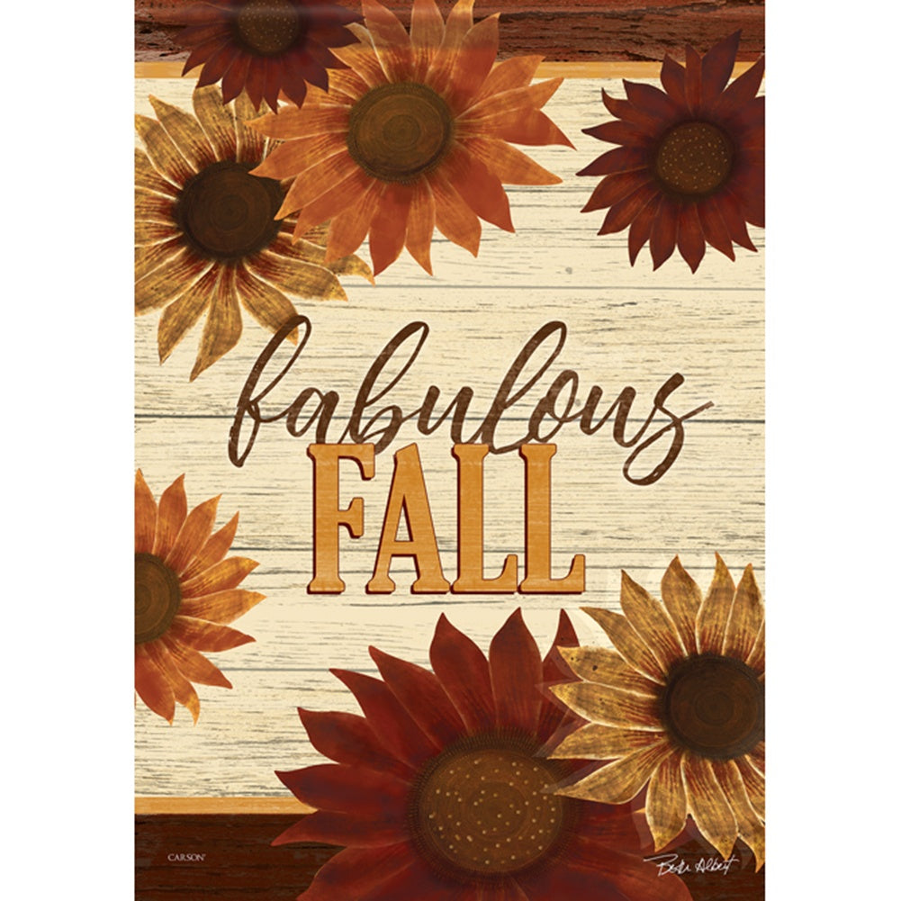 Fabulous Fall Floral Garden Flag