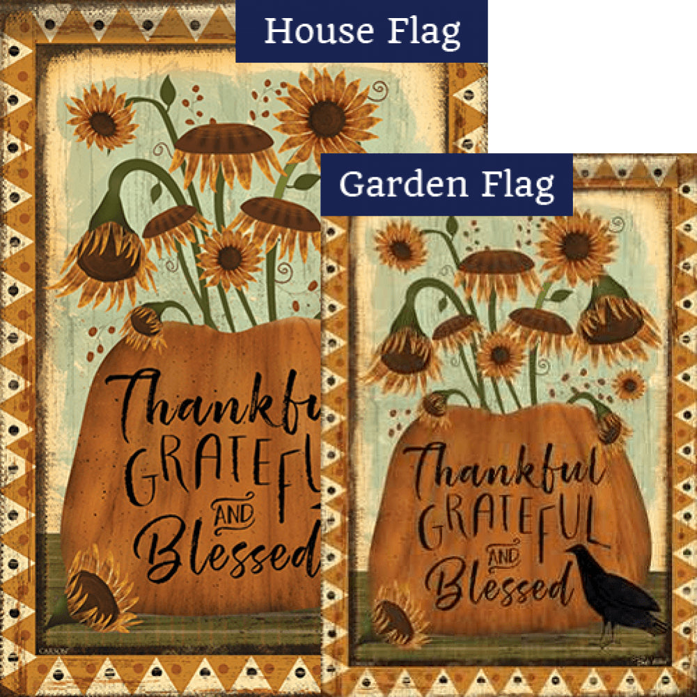 Thankful Grateful Blessed Flags Set (2 Pieces)
