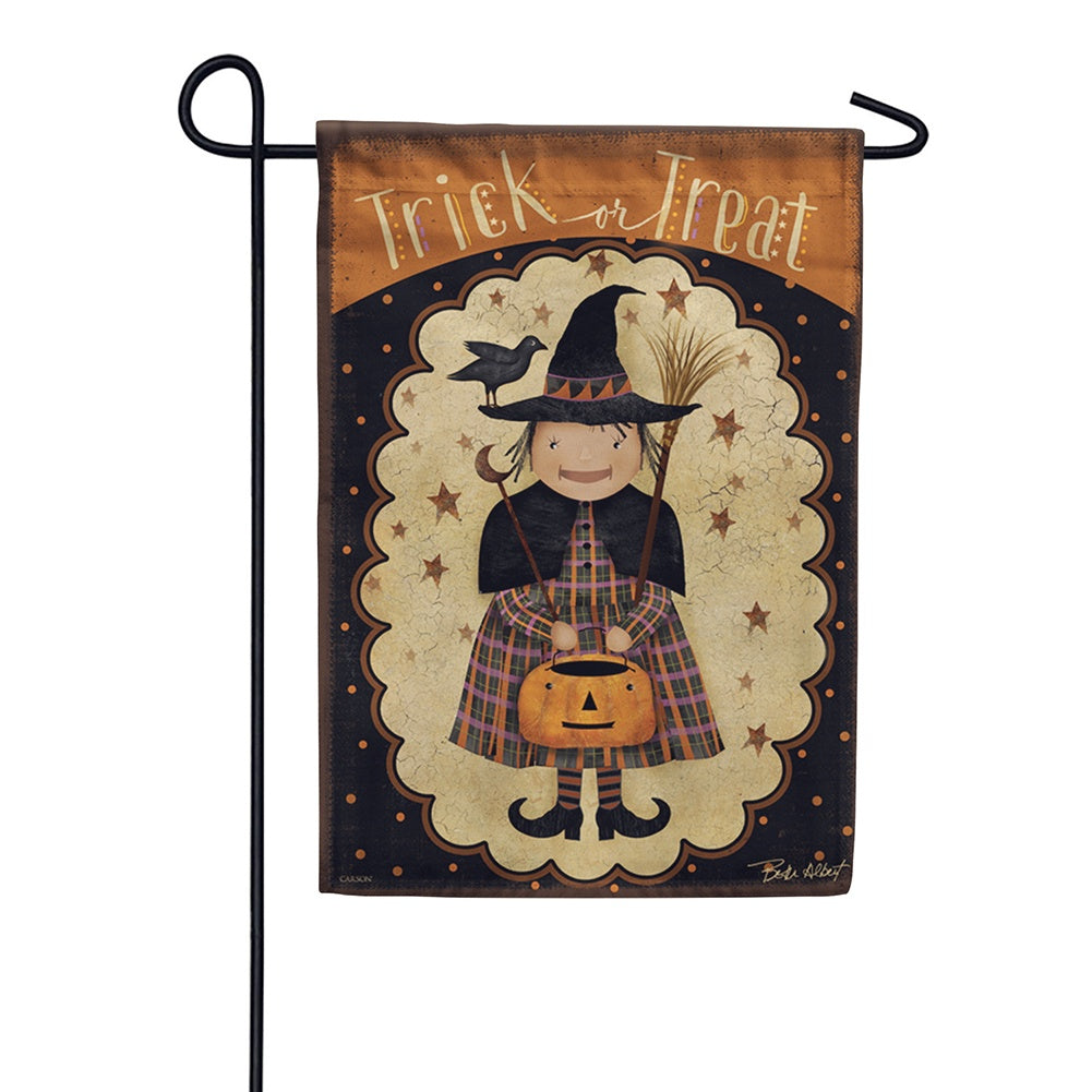 Primitive Witch Garden Flag