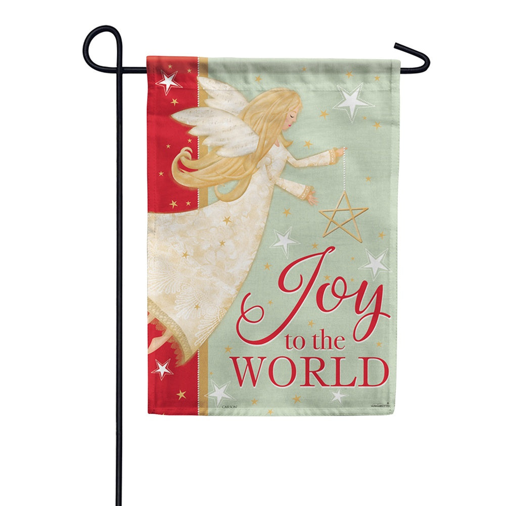 Angel Joy Glitter Trends Garden Flag