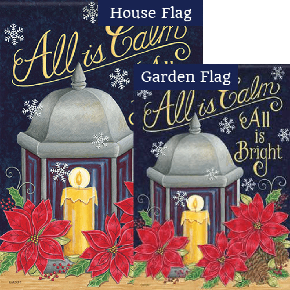 All is Bright Lantern Flags Set (2 Pieces)