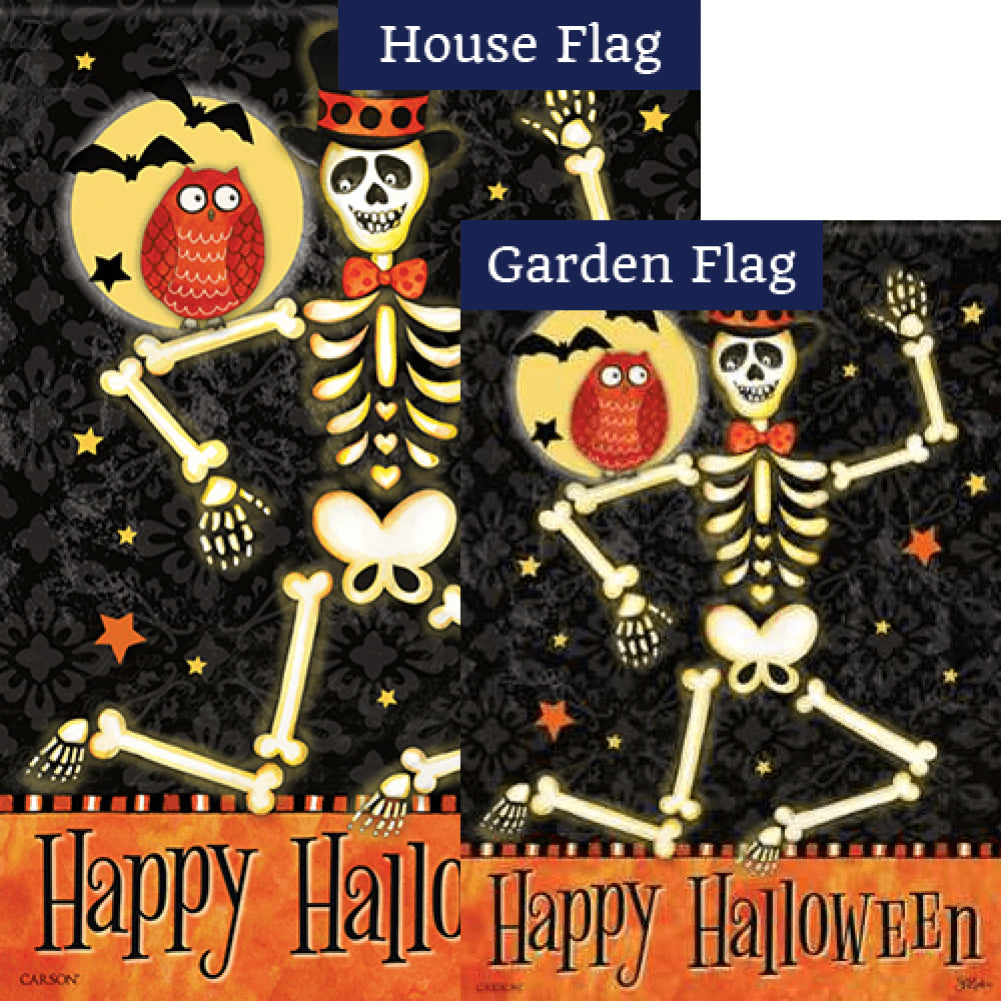 Mr. Bones Glitter Flags Set (2 Pieces)