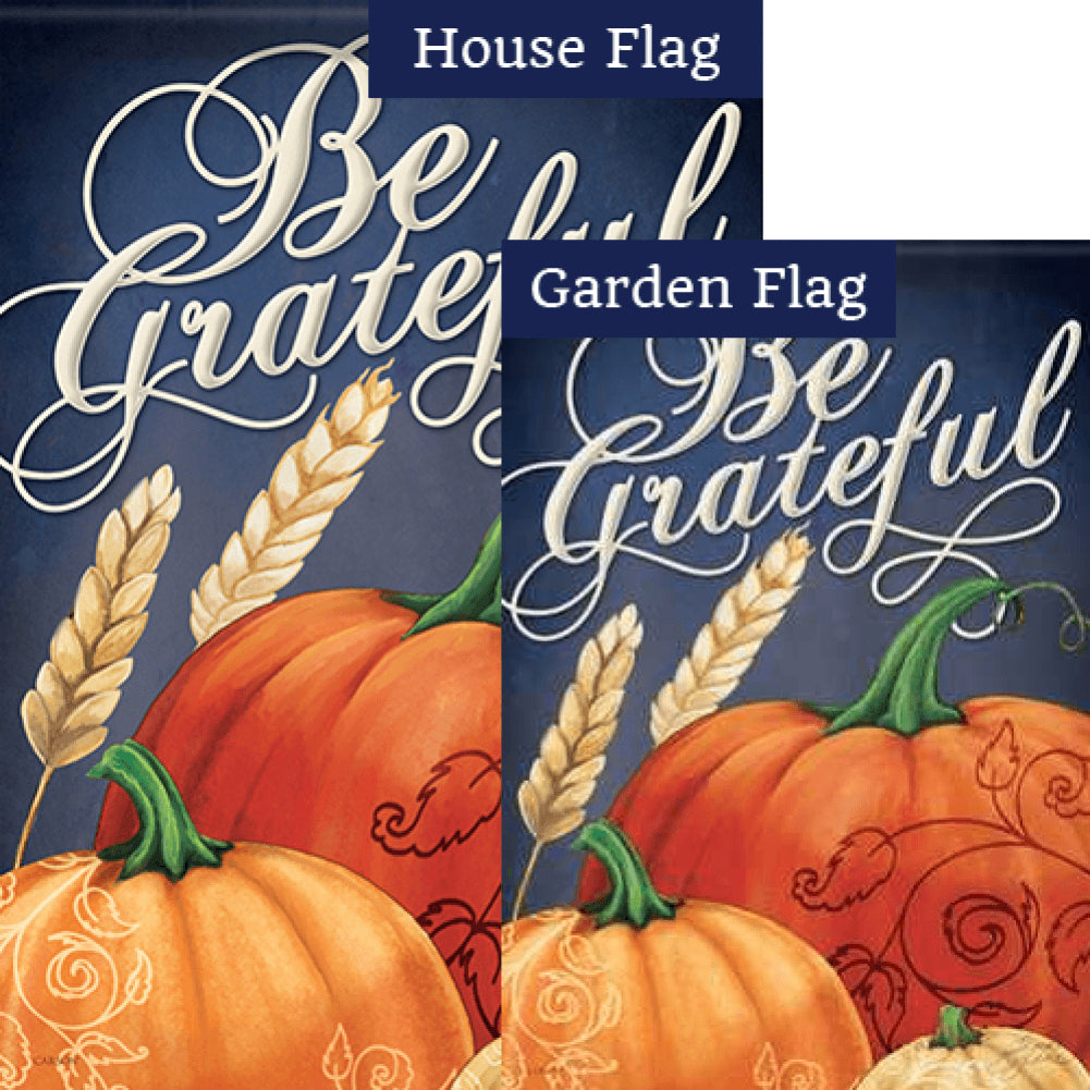 Grateful Fall Flags Set (2 Pieces)