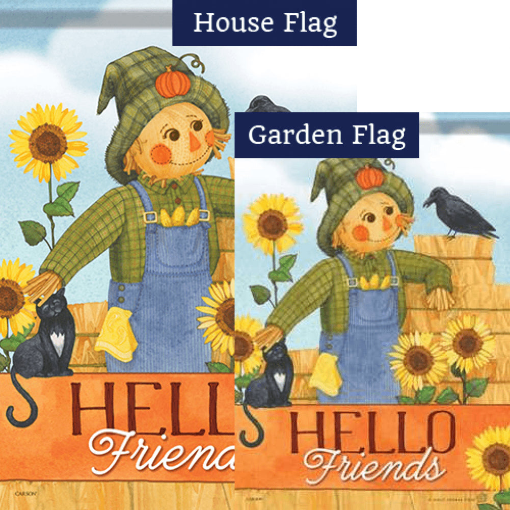 Sweet Scarecrow Flags Set (2 Pieces)