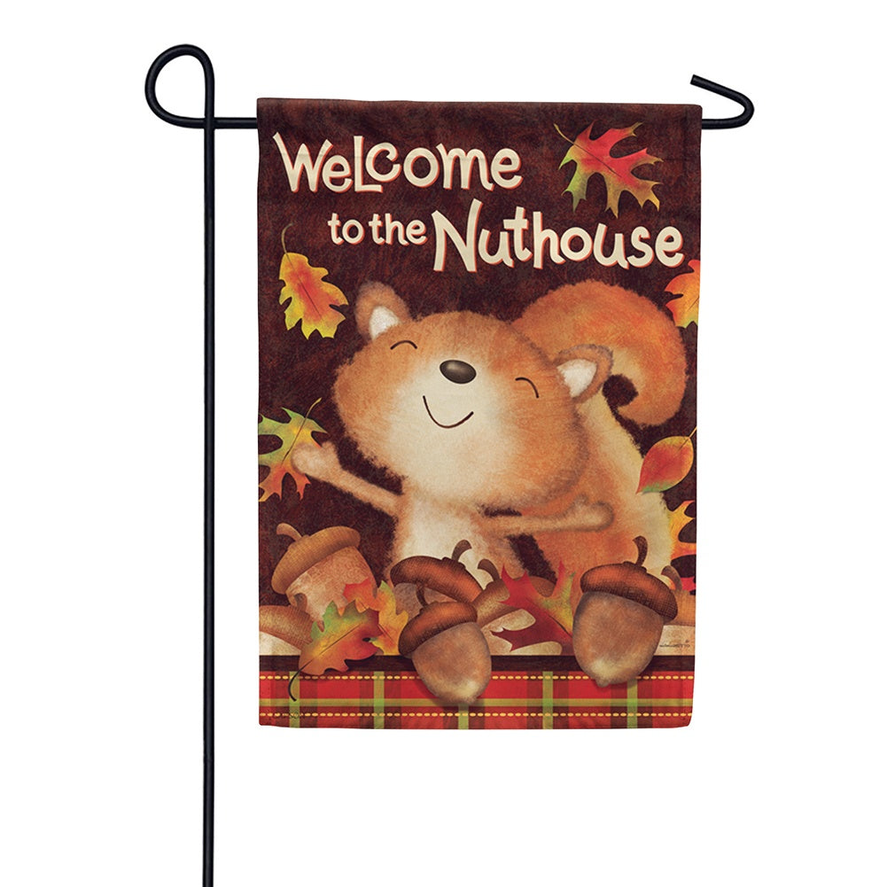 Fall Nuthouse Garden Flag