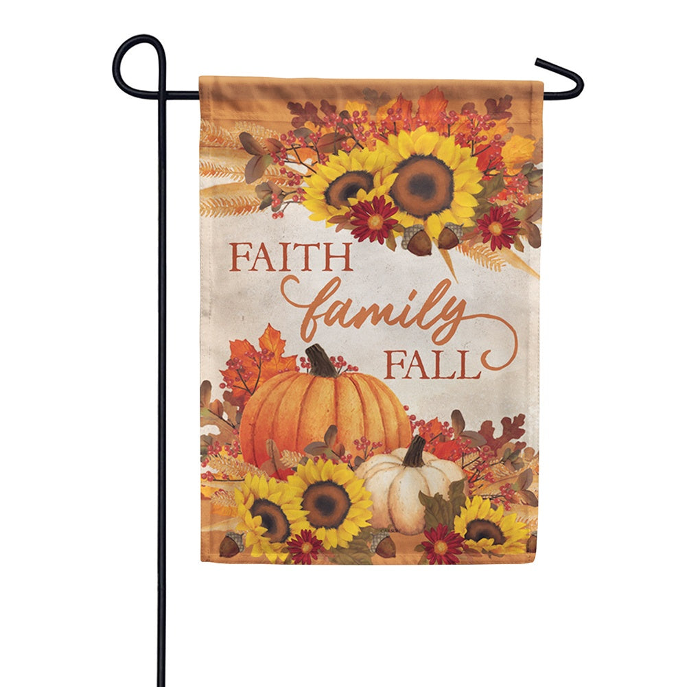 Faith, Family, Fall Double Sided Garden Flag