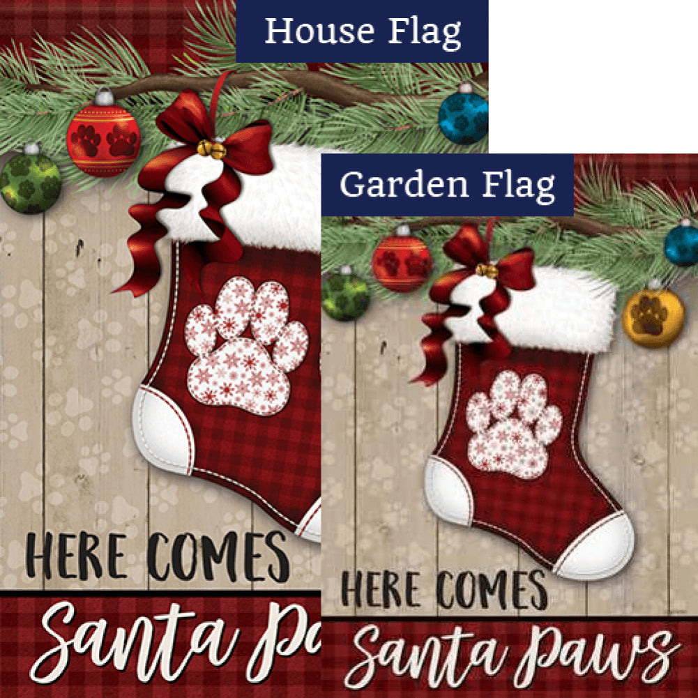 Santa Paws Double Sided Flags Set (2 Pieces)