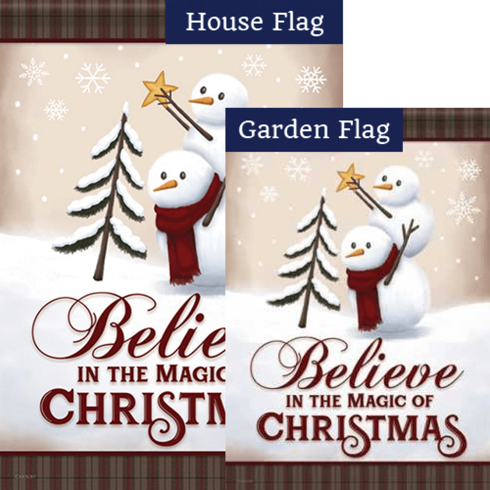 Believe In The Magic Double Sided Flags Set (2 Pieces)