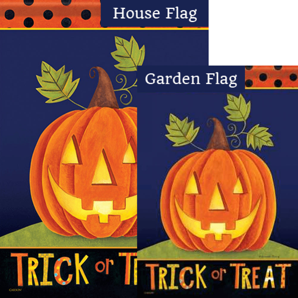 Trick Or Treat Jack Double Sided Flags Set (2 Pieces)
