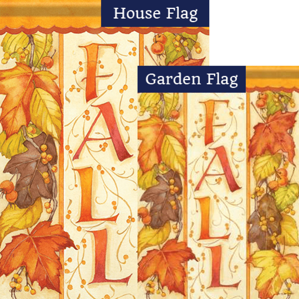 Leaves of Fall Double Sided Flags Set (2 Pieces)