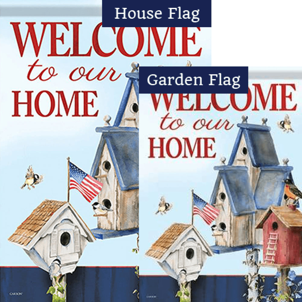 American Home Double Sided Flags Set (2 Pieces)
