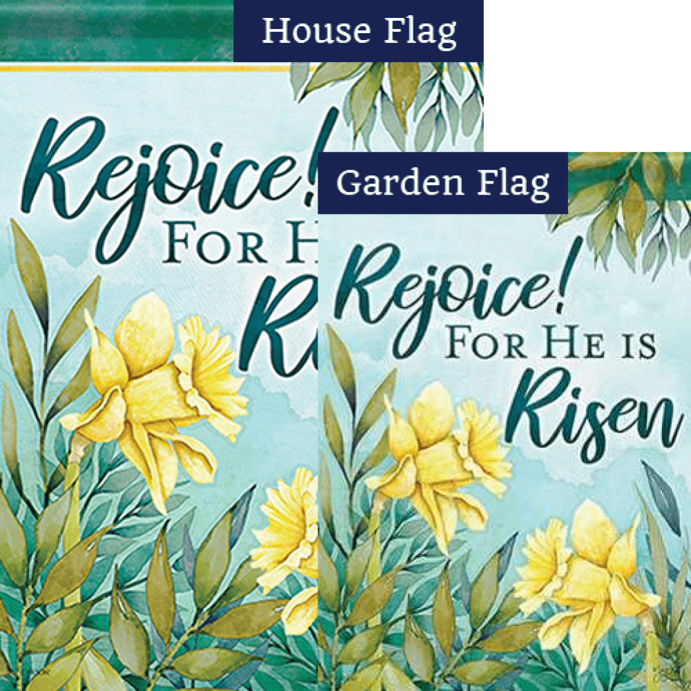 Signs Of Spring Double Sided Flags Set (2 Pieces)